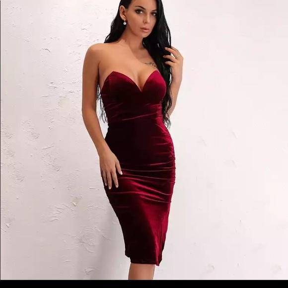 4718a636c93 Dresses | Beautiful Sexy Classy Burgundy Velvet Dress | Poshmark